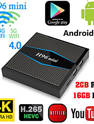 cheap -H96 Mini  Amlogic S905W Android 7.1 2GB DDR4 16GB TV Box Dual Band WiFi LAN Bluetooth USB3.0 HDMI