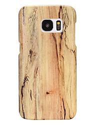 cheap -Phone Case For Samsung Galaxy Back Cover Leather S8 Plus S7 edge S7 S6 edge plus S6 Ultra-thin Wood Grain PU Leather PC
