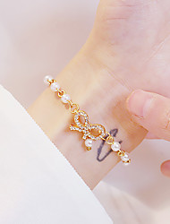 cheap -Women's Vintage Bracelet Earrings / Bracelet Pendant Bracelet Geometrical Bowknot Korean Fashion Cute Elegant Colorful Imitation Pearl Bracelet Jewelry Gold For Daily