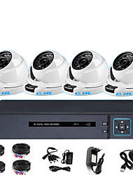 cheap -Monitoring Equipment Set 4CH AHD Coaxial Analog Indoor Hemisphere 1080P Monitoring System Remote Monitor