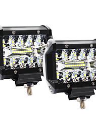 Недорогие -4 дюйма 60 Вт 3 ряда светодиодные фонари рабочий свет привода внедорожные фонари фонари на крыше - 2шт