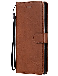 cheap -Case For Samsung Galaxy Note 9 / Note 8 / Note 4 Wallet / Card Holder / with Stand Full Body Cases Solid Colored PU Leather For Samsung Galaxy Note 3/Note 10/Note 10 Plus