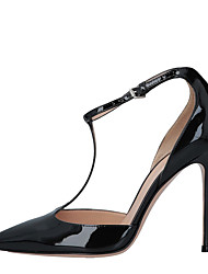 cheap -Women's Heels Stiletto Heel Pointed Toe Buckle Faux Leather Sweet / British Fall / Spring & Summer Black / Party & Evening