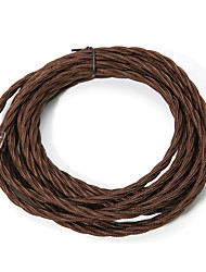 Недорогие -(10 м / лот) шнур из витой ткани кофе 3x0,75 покрытый хлопком электрический антикварный провод для старинных подвесных светильников и других промышленных антикварных поделок