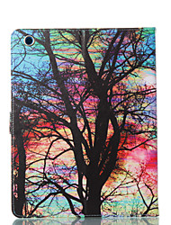 cheap -Case For Apple iPad 4/3/2 Wallet / Card Holder / with Stand Full Body Cases Butterfly / Tree / Flower PU Leather