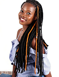 cheap -Braiding Hair Curly Matte Afro Kinky Braids Curly Braids Synthetic Hair 100% kanekalon hair 1pc / pack Hair Braids Brown Purple 19 inch Dreadlock Extensions Crochet Braids Faux Locs Wig School Date