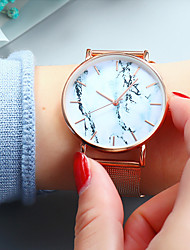 cheap -Women's Quartz Watches Analog Quartz Fashion Casual Watch Marble / One Year / Stainless Steel / Stainless Steel