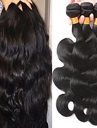 cheap -3 Bundles Brazilian Hair Body Wave Virgin Human Hair 100% Remy Hair Weave Bundles Wig Accessories Headpiece Natural Color Hair Weaves / Hair Bulk 8-28 inch Natural Color Human Hair Weaves Odor Free