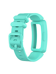 abordables -Bracelet de Montre  pour Fitbit Ace 2 / Fitbit Inspire HR / Fitbit Inspire Fitbit Bracelet Sport Silikon Sangle de Poignet