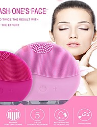 cheap -Waterproof Electric Silicone Facial Cleanser USB Charging Face Cleansing Device