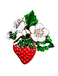 cheap -Women's Brooches Strawberry Simple Vintage Sweet Fashion Army Brooch Jewelry Golden For Wedding Party Engagement Gift Work