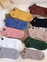 abordables -10 paires Femme / Fille Chaussettes Moyen Bande dessinée Des sports Style Simple Coton EU36-EU42