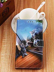 Недорогие -чехол для яблока iphone xr / iphone xs max кошелек / держатель для карты / с подставкой для всего корпуса зеркала кошка из искусственной кожи для iphone 6s / 6s plus / 7/7 plus / 8/8 plus / x / xs