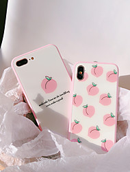 cheap -Phone Case For Apple Back Cover iPhone XR iPhone XS iPhone XS Max iPhone X iPhone 8 Plus iPhone 8 iPhone 7 Plus iPhone 7 iPhone 6s Plus iPhone 6s Ultra-thin Pattern Cartoon Food Tempered Glass