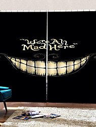 abordables -rideaux heureux fond d'halloween sourire uv impression numérique rideau occultation tissu rideau personnalisé étanche à l'humidité