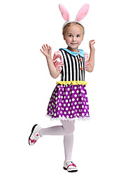 cheap -Bunny Girl Cosplay Costume Kid's Girls' Halloween Halloween Festival / Holiday Spandex Polyester / Polyamide Dark Pink Carnival Costumes