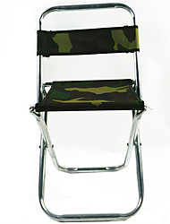 cheap -Camping Stool Foldable Comfortable Stainless Steel / Iron for 1 person Fishing Picnic Camouflage