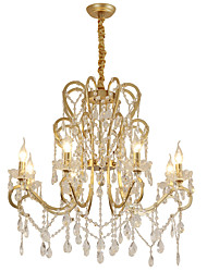 cheap -8-Light 80 cm Chandelier Metal Painted Finishes Artistic Nordic Style 110-120V 220-240V