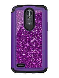 Недорогие -Кейс для Назначение LG LG StyLo 3 Защита от удара Кейс на заднюю панель Сияние и блеск ПК