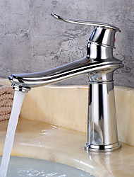cheap -Bathroom Sink Faucet - Widespread Brass Free Standing Single Handle One HoleBath Taps