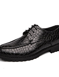 cheap -Men's Leather Shoes PU Summer Business Oxfords Black / Brown / Party & Evening / Party & Evening