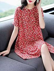 cheap -Women's Street chic Elegant Shift Dress - Plaid Snowflake Tie Dye Black & White Crane Pineapple, Cut Out Ruffle Print Black Red M L XL XXL