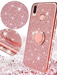 cheap -Case For Huawei Huawei P Smart 2019 / Huawei P Smart Plus 2019 / Huawei Mate 20 lite with Stand / Plating / Ring Holder Back Cover Glitter Shine TPU