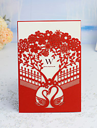 """cheap -Wrap & Pocket Wedding Invitations 30pcs - Invitation Cards / Thank You Cards / Response Cards Artistic Style / Fairytale Theme / Floral Style Pearl Paper 5""""×7 ¼"""" (12.7*18.4cm)"""