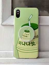 Недорогие -Кейс для Назначение Apple iPhone XS / iPhone XR / iPhone XS Max со стендом / IMD / Ультратонкий Кейс на заднюю панель Продукты питания / Мультипликация ТПУ / ПК