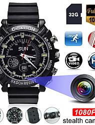 Недорогие -1080p HD мини-камера часы ночного видения камеры видеорегистратор с 32 г карты обнаружения движения запись камеры видеонаблюдения