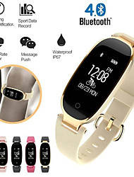 cheap -Smartwatch Digital Modern Style Sporty Genuine Leather 30 m Water Resistant / Waterproof Heart Rate Monitor Bluetooth Digital Casual Outdoor - Black / Gray black / gold Gold