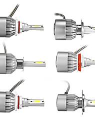cheap -9V-36V H1/H4/H7/H11/9005/9006 COB LED Headlights Bulbs Conversion Kit White