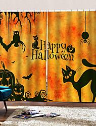 abordables -rideaux d'impression de luxe 3d digtal heureux halloween thème fond rideau occultation rideau 100% polyester