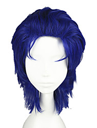 cheap -JoJo's Bizarre Adventure Cosplay Cosplay Wigs Men's 14 inch Heat Resistant Fiber Blue Blue Anime
