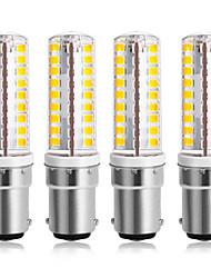 cheap -4pcs 7 W LED Corn Lights 300 lm B15 64 LED Beads SMD 2835 Warm White Cold White 220-240 V 110-120 V