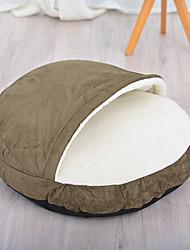 Недорогие -Собаки Кровати Кровать пещеры обниматься Коврики и подушки Ткань Плюшевая ткань Контрастных цветов Однотонный Черный Зеленый Серый