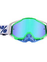 cheap -Motorcycle Glasses Dustproof Riding Outdoor Cross-country Goggles Motor Windshield Goggles  Frame ColorWhite green  blue