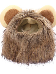 cheap -Dogs Cats Bandanas & Hats Dog Clothes Brown Costume Plush Lion Animal