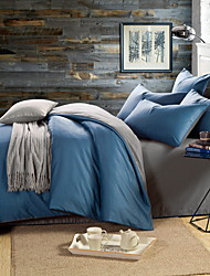 cheap -Duvet Cover Sets Lines / Waves Cotton Reactive Print 4 PieceBedding Sets