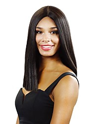 cheap -Synthetic Wig Natural Straight Layered Haircut Wig Medium Length Natural Black Synthetic Hair 38~42 inch Women's New Arrival Black