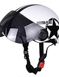 cheap -Motorcycle Helmet Half 3/4 with Retractable Drop Down Sun Visor Open Face Helmet