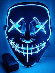 cheap -BRELONG Mask Halloween LED Up Party Horror Mask Shiny Cosplay Clothes Supplies Dark Mask 1 pc