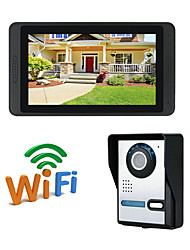 cheap -WIFI 7 inch Hands-free 1024*600 Pixel One to One video doorphone