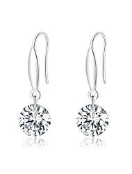 cheap -925 Sterling Silver Zirconia Design Drop Earrings for Women Dangle Earing Clear CZ Fashion Statement Jewelry
