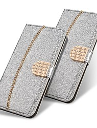 cheap -Case For Samsung Galaxy Note 20 Ultra S20 Plus S10 Plus Wallet  Card Holder with Stand Glitter Shine Gold Chain PU Leather Case For Samsung S9 Plus S8 Plus S7 Edge  Note 10 Plus A51 A71