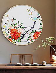 cheap -Framed Art Print Prints - Still Life Floral / Botanical Wood Sketch Wall Art