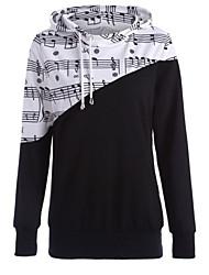 cheap -Women's Casual Hoodie - Geometric Black S