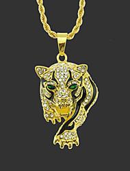cheap -Men's Pendant Necklace Long Necklace Classic Tiger Unique Design Fashion Gold Plated Chrome Gold Silver Hawk Golden Leopard Silver Leopard 75 cm Necklace Jewelry 1pc For Street