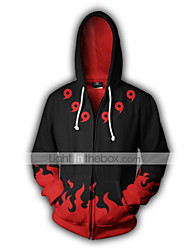 cheap -Inspired by Naruto The incense eye of the Naruto Uchiha Sarada Cotton Cartoon Hoodie For Unisex