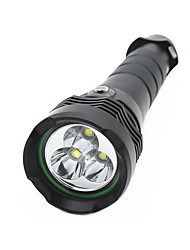 cheap -Diving Flashlights / Torch Waterproof LED Emitters Manual Mode Waterproof Camping / Hiking / Caving Diving / Boating Black